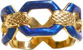One Kings Lane Vintage Uno A Erre 18K Italian Enamel Ring