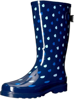 Western Chief Women Wide Calf Rain Boot Blue 6 W US