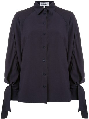 Kenzo Tie Sleeves Loose Fit Shirt