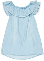 Tractr Girl's Off The Shoulder Chambray Top