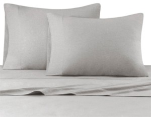 JLA Home Heathered Cotton Jersey 4-Pc. Solid Queen Sheet Set Bedding