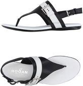 Hogan Toe strap sandals