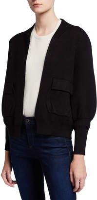Patrizia Luca Cropped Open Front Cardigan