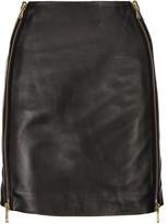 Pierre Balmain Leather mini skirt