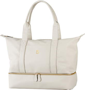 Cathy's Concepts Monogram Vegan Leather Tote with Shoe Base