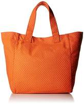 Rhombus Canvas Polka Big Tote Bag