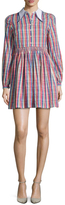 Manoush Grappe Cotton Plaid Shirtdress