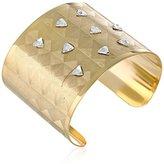 Chamak by Priya Kakkar Gold-Tone Swarovski Crystals Cuff Bracelet
