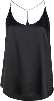 L'Agence scoop neck blouse