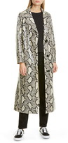 Stand Studio Mollie Snake Print Faux Leather Coat