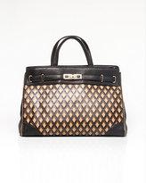 Le Château Leather-Like Diamond Print Bag