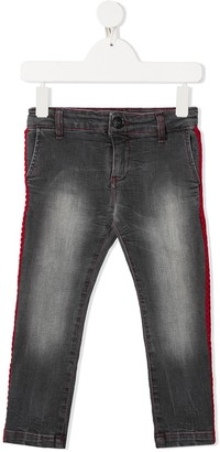 Touriste Stripe-Side Slim Jeans