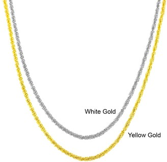 Fremada 10k Yellow or White Gold 1.2mm Adjustable 22-inch Sparkle Chain