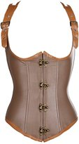 Miss Moly Women's Steampunk Gothic Sexy Corset Underbust Bustier Top L Brown