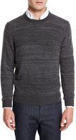 Neiman Marcus Cashmere-Cotton Athletic Crewneck Sweater