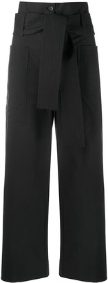 P.A.R.O.S.H. Belted High-Waisted Trousers