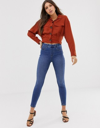 New Look shaper jegging in mid blue