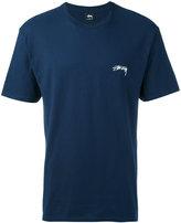 Stussy chest print T-shirt - men - Cotton - S