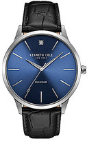 Kenneth Cole Crocodile-Embossed Leather-Strap Watch
