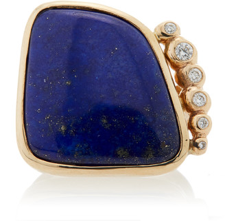 Lapis Jill Hoffmeister One-Of-A-Kind 14K Gold, Diamond And Ring