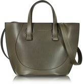 Victoria Beckham Khaki Leather Small Tulip Tote