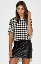 KENDALL + KYLIE Kendall & Kylie Collared Cropped Top