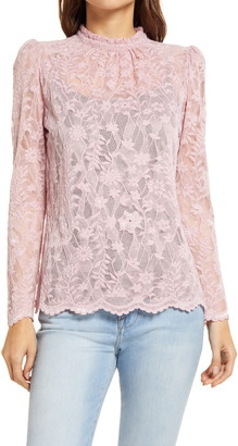 Gibson Puff Sleeve Lace Top