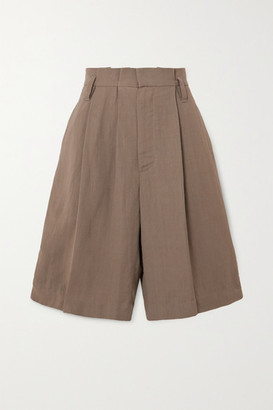 Brunello Cucinelli Space For Giants Pleated Twill Shorts - Beige