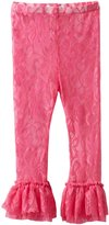 Mud Pie Little Girls' Floral Lace Legging
