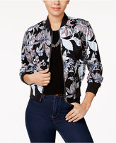 Amy Byer Juniors' Printed Bomber Jacket