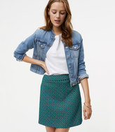 LOFT Tiled Jacquard Mini Skirt
