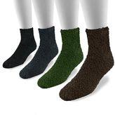 Muk Luks Men's 4-pk. Micro Chenille Quarter Socks