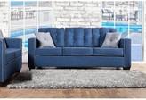 Hokku Designs Urban Valor Sofa Fabric: Blue