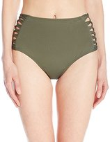 L-Space Women's Tigress Strappy Bikini Bottom