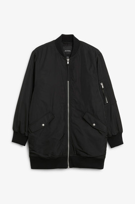 Monki Oversized bomber jacket