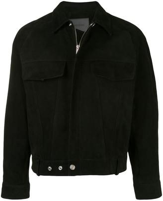 SONGZIO Crop Suede Trucker Jacket