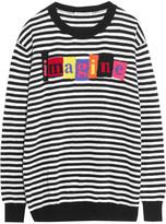 Autumn Cashmere Striped intarsia-knit cashmere sweater