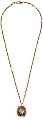 Gucci Lion head necklace with multicolor crystals