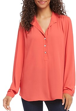Karen Kane Crepe Button-Front Top