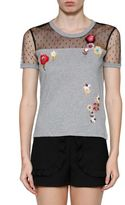 RED Valentino Floral Sequinned T-shirt