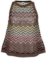 M Missoni Zigzag Pattern Tank Top