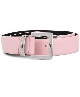 Just Cavalli Logo Buckle Leather Belt