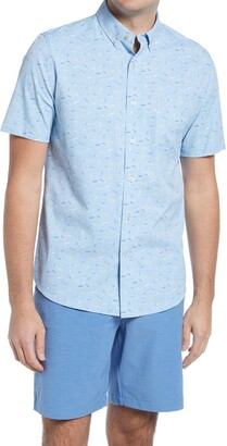 Southern Tide Lure Short Sleeve Stretch Button-Down Performance Shirt