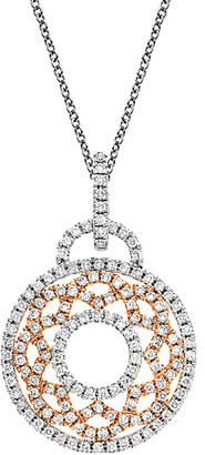 Nephora 14K Two-Tone 0.86 Ct. Tw. Diamond Pendant