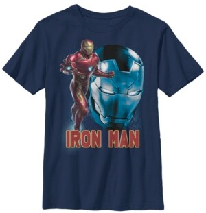Fifth Sun Marvel Big Boy's Avengers Endgame Iron Man Side Profile Short Sleeve T-Shirt