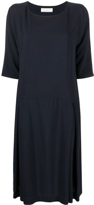 Societe Anonyme Side-Pleat Shift Dress