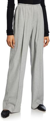 Vince Flannel Wide-Leg Pants