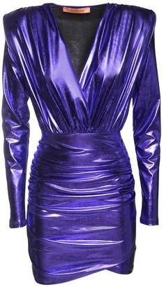 The Andamane Colette Metallic Jersey Mini Dress