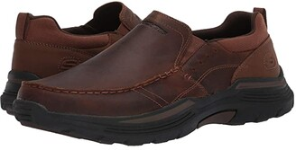 Skechers Relaxed Fit Expended - Seveno (Dark Brown) Men's Shoes