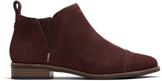 Toms Forest Brown Suede Women's Reese Booties